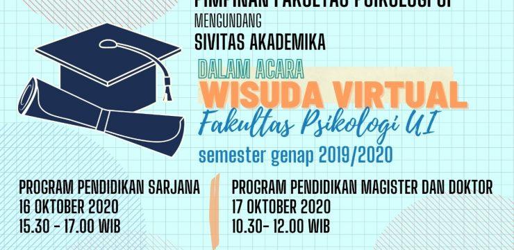 Wisuda Virtual F.Psi UI Semester Genap 2019/2020